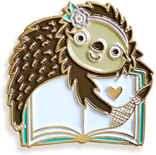 product image for Night Owl Paper Goods Book Sloth Enamel Pin