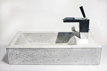 Beton Waschbecken 46x25x10 cm: Amazon.de: Küche & Haushalt