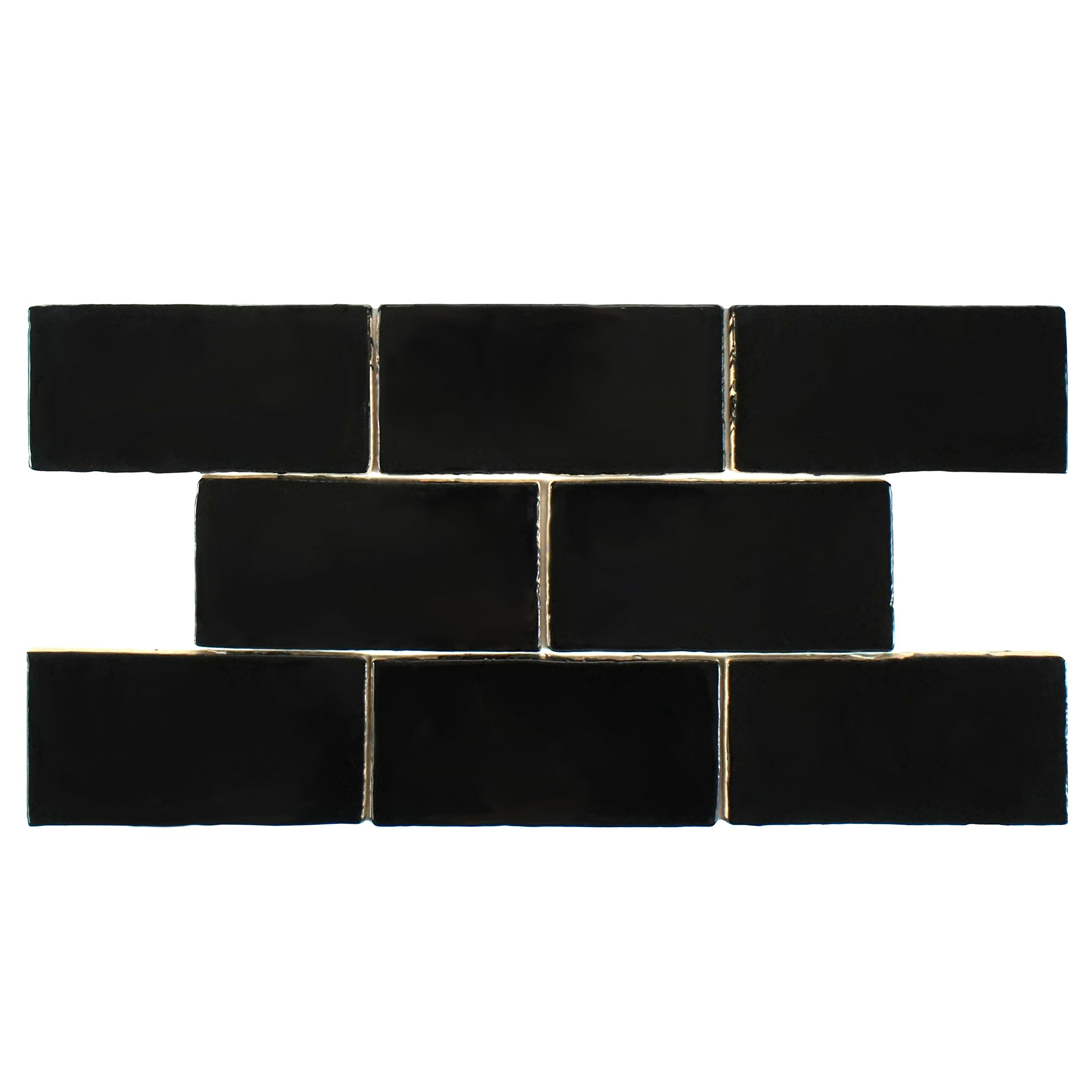 SomerTile WNU36CNE Penn Nero Ceramic Wall Tile, 3'' x 6'', Black by SOMERTILE