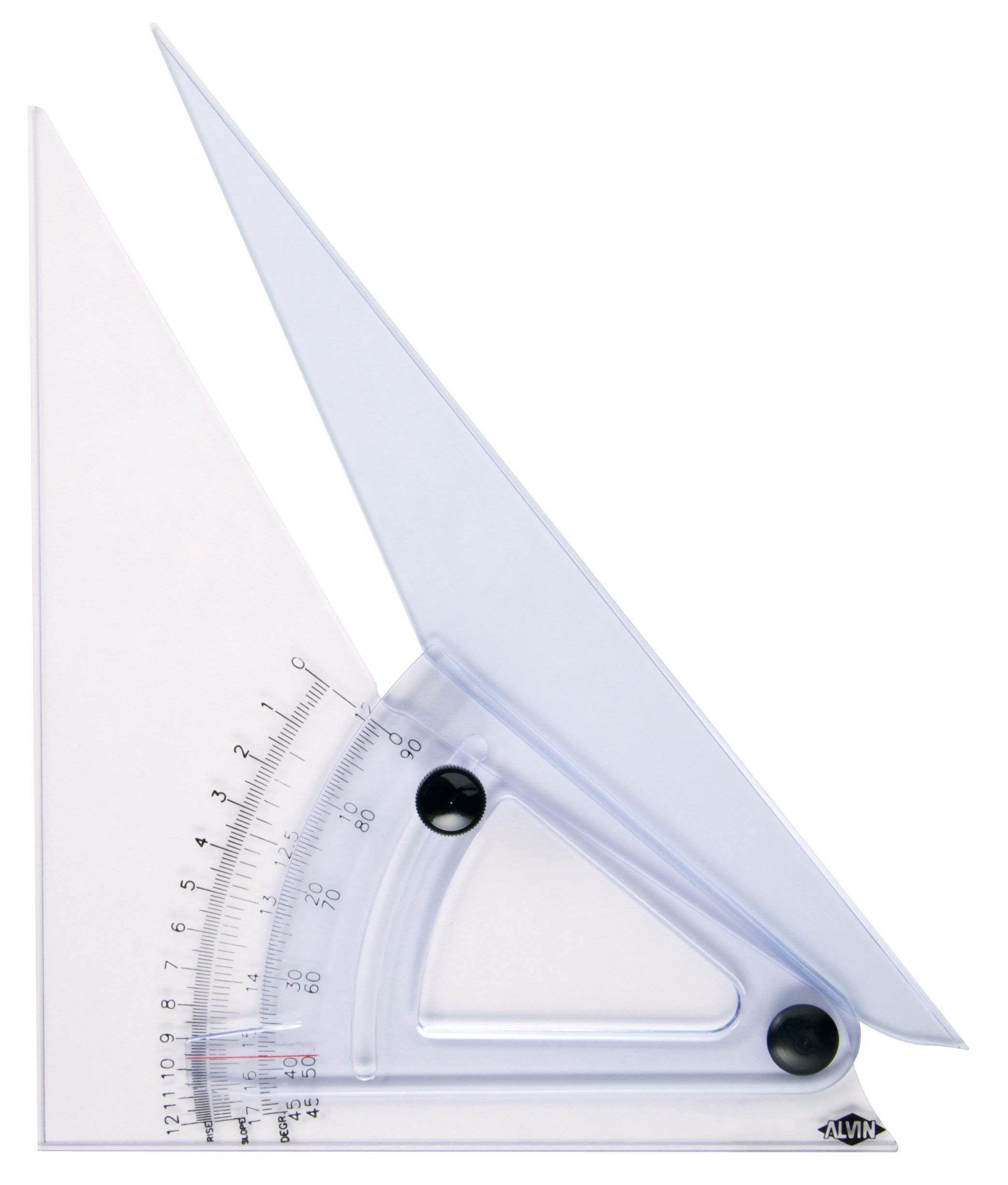 Alvin, Trig Scale Adjustable Triangle with Inking Edge, 8 Inches by Alvin