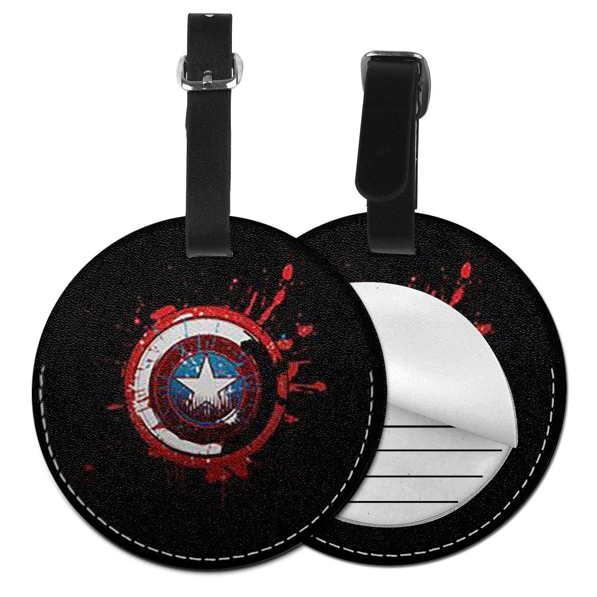 WEIBING Round Luggage TagCaptain America Luggage Tags Suitcase Labels Bag Travel Accessories
