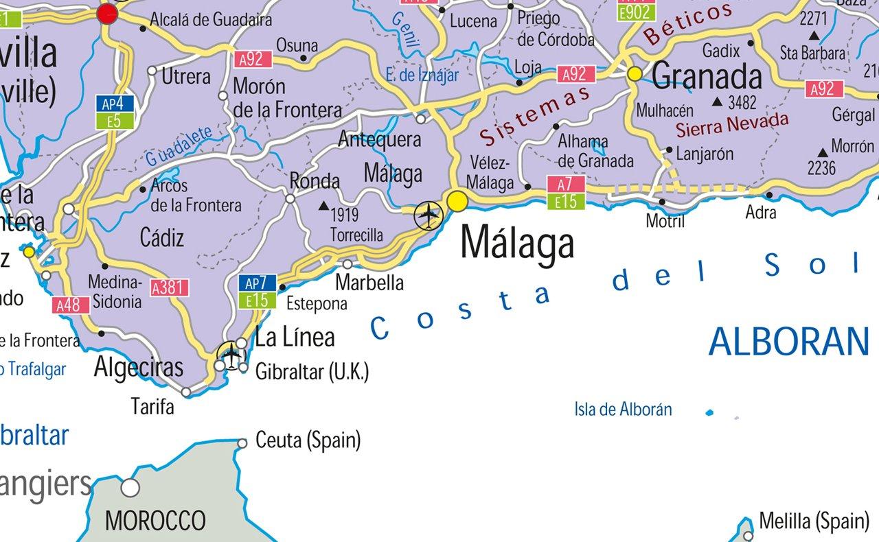 España mapa político laminado de papel, color, A1 Tamaño, 59 ...