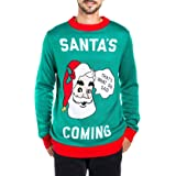 Tipsy Elves Men's Ugly Christmas Sweaters Featuring Santa Claus - Hilarious Holiday Pullovers for Guys