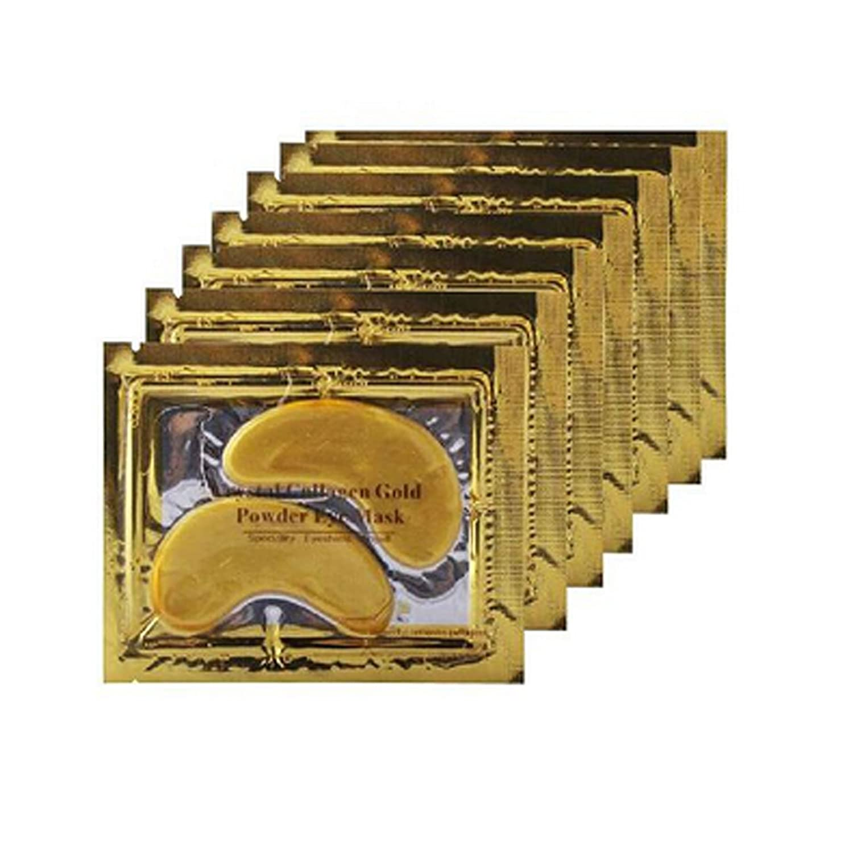 Boolavard® TM 10 paires New Cristal Gold Dust Gel Collagène Yeux Masque Masques
