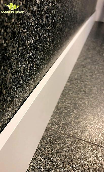 Hauteur 10 cm, 14ml plinthes arrondies dimensions aux choix fabrication FRANCAISE Plinthe en m/édium naturel de tr/ès grande qualit/é