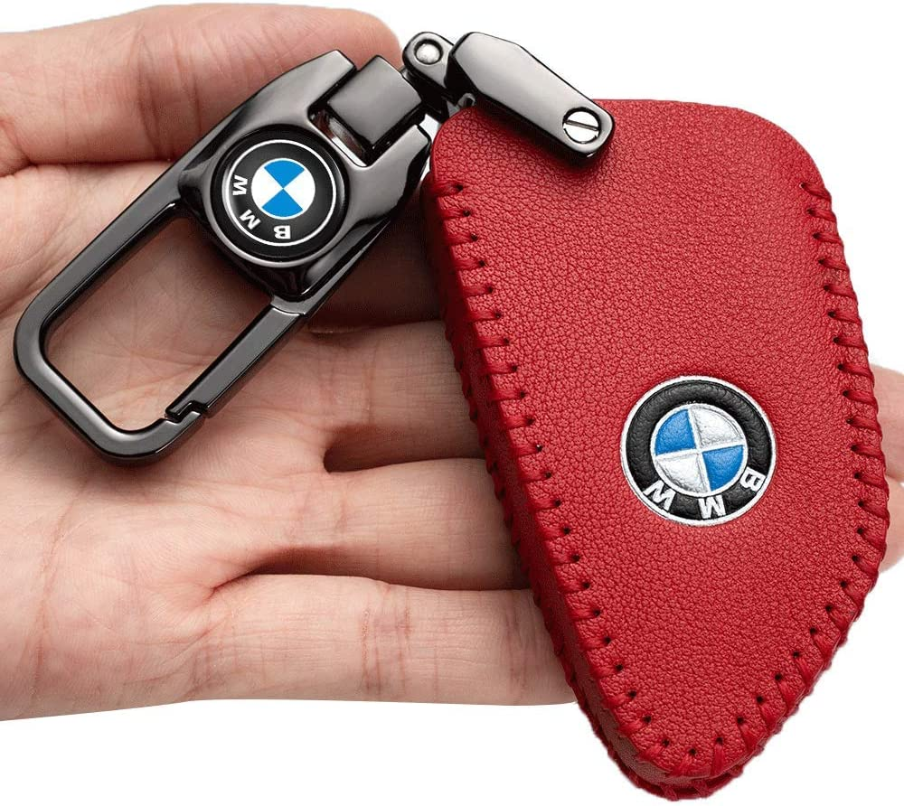 4 button Smart Key Car Key Case Genuine Leather Protector Keychain suit for BMW X3 X4 GT3 GT5 1 2 3 4 5 Series key fob cover key holder