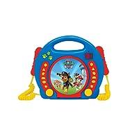 Lexibook Paw Patrol La Pat'Patrouille Chase Lecteur CD pour enfant avec 2 microphones jouets, prise écouteurs, à piles, Bleu/Rouge, RCDK100PA
