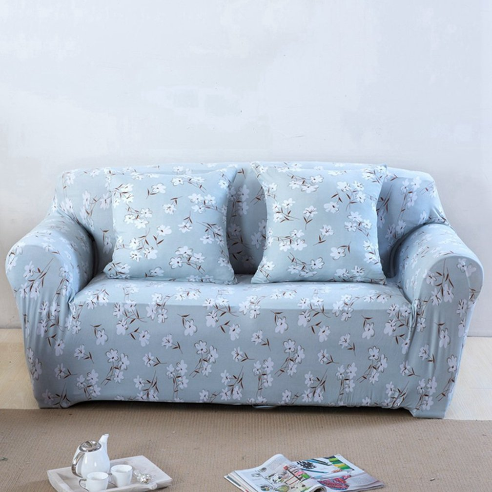 Home Flowers Couch Sofa Covers for Living Room Loveseat Spandex Corner Sofa Slipcovers Universal Stretch Furniture Covers Plush