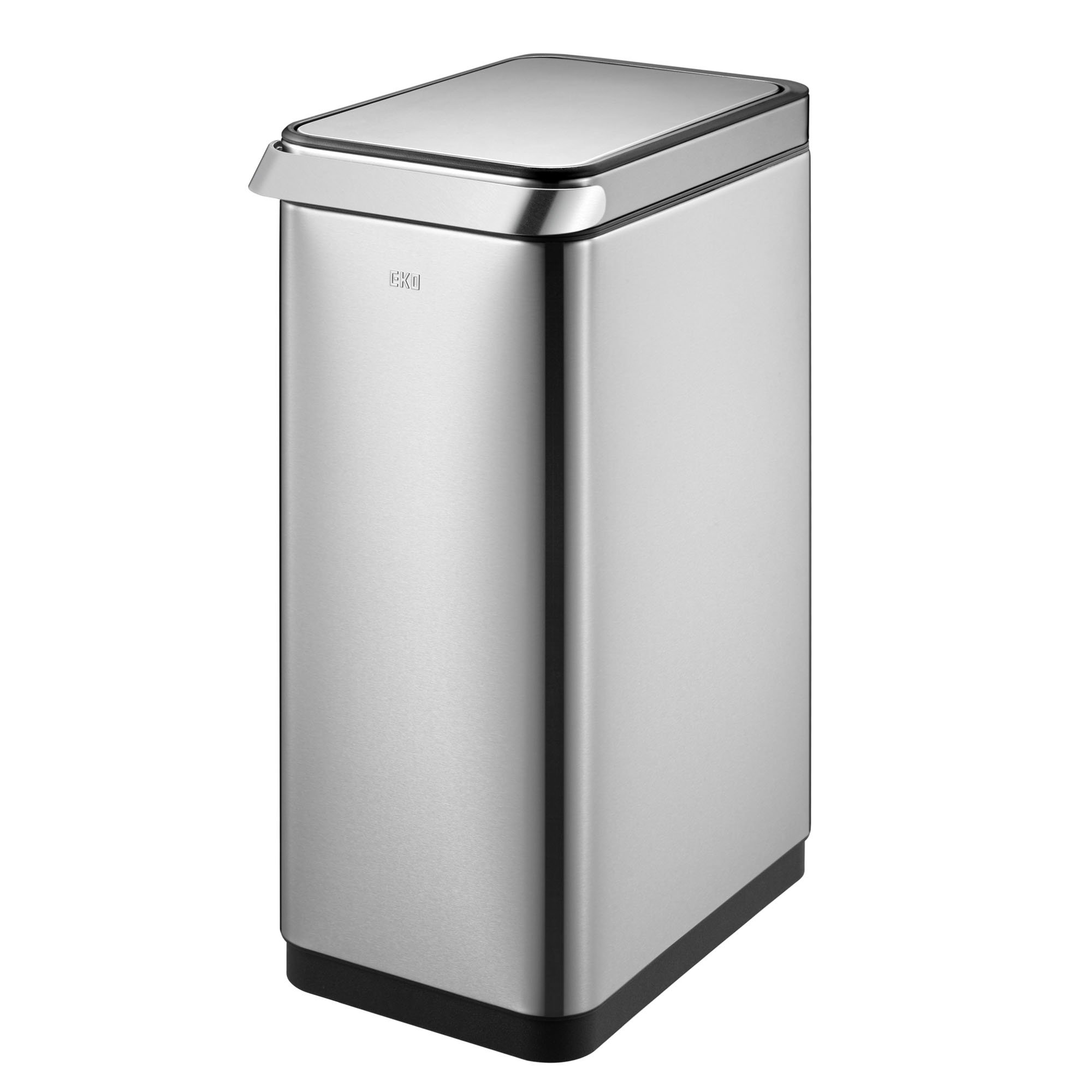EKO 91795-1 Touch Pro Step Bin Trash Can and Recycler | Stainless Steel | 50 L