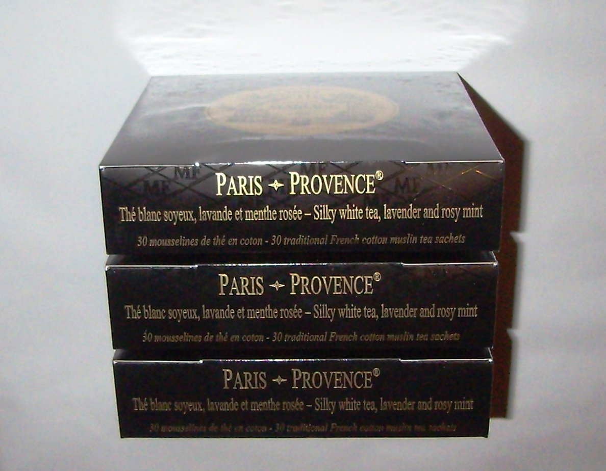 Mariage Frères - PARIS-PROVENCE® - 3 Boxes of 30 traditional french muslin tea sachets