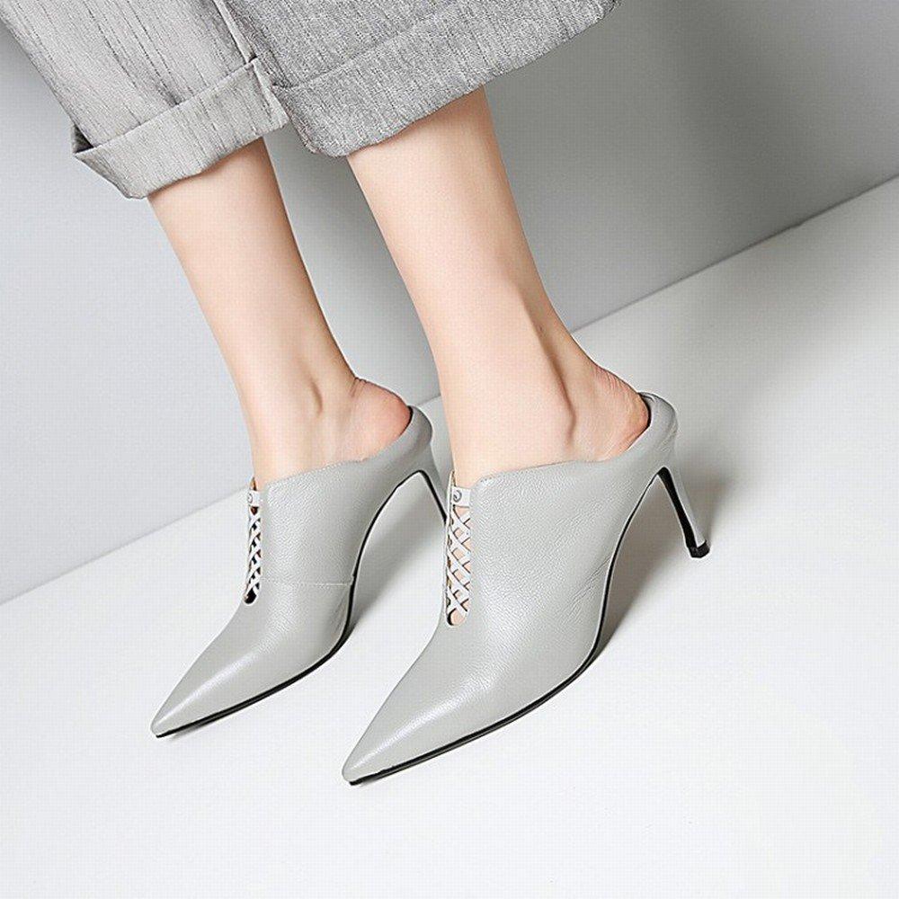 SHOEES Las Zapatillas de Deporte de Moda Occidentales Usan Zapatos de Tacón Alto, do,34 34|do