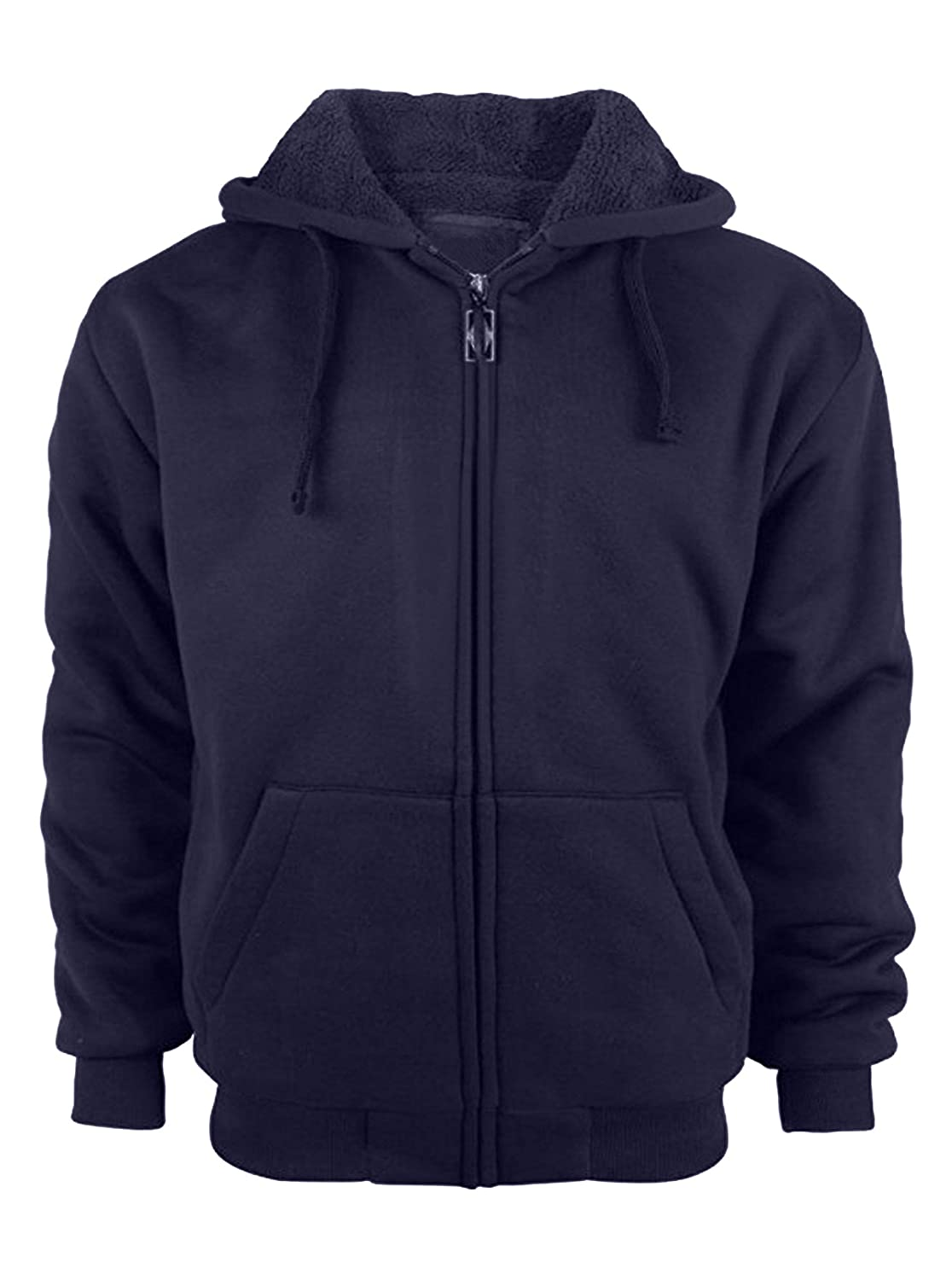 GEEK LIGHTING Mens Performance Full Zip Outdoor Warm Fleece Hoodie Jacket
