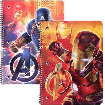 Licensed Character Spiral Notebook 2 pc Set Marvel Avengers