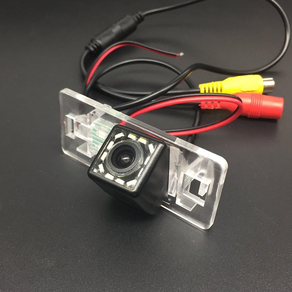 LEDs Car Rear View Camera for Audi A1 A3 Q3 A4 A4L S4 RS4 A5 S5 RS5 Q5 A6 A6L S6 A7 S7 TT TTS /& HD CCD Night Vision Waterproof and Shockproof Reversing Backup Camera 12 LED