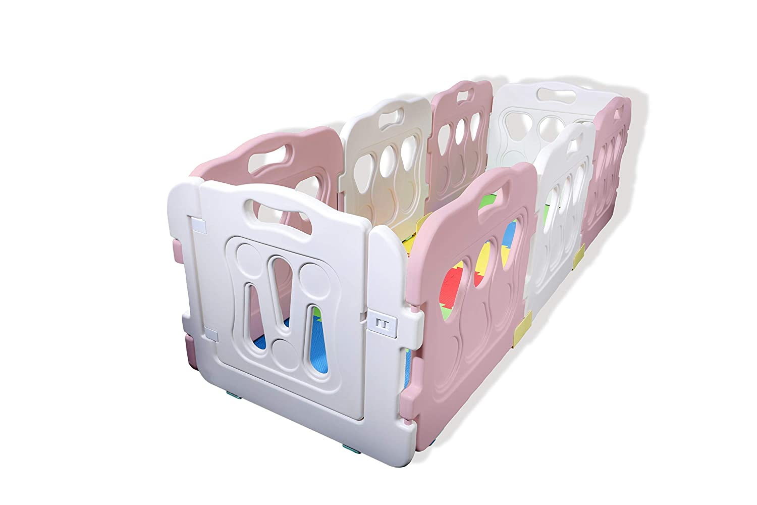 Spongy Anti-Slip Pads Stabilizers X- Large Babies Den Play Pen Panel 2020 New Model Set Gated Baby Cage +16 Soft Interlocking Floor Mats +16 Babycare Playmat Edges Baby Playpen Play Mat Mutti