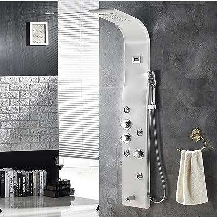 ZJMSDK Grifería de Baño 304 Pantalla de Ducha Digital ...