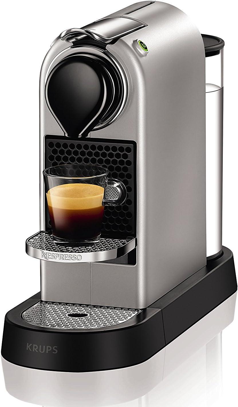 Nespresso Krups Citiz XN740B - Cafetera monodosis de cápsulas Nespresso, compacta, 19 bares, apagado automático (Reacondicionado Certificado): Amazon.es: Hogar