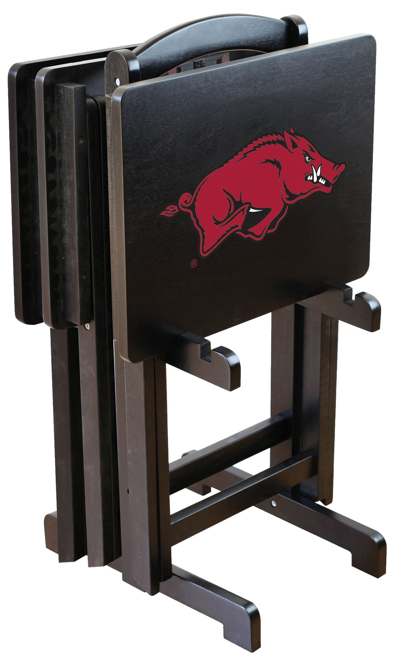 NCAA Arkansas Razorbacks University Tv Trays With Stand, One Size, Multicolor