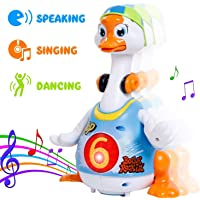 MKE Elektra Hip Hop Dancing Walking, Talking, Singing, Interacting Non-Toxic ABS Plastic Goose Musical Toy with Flashing Light for Kids (Assorted Colour)