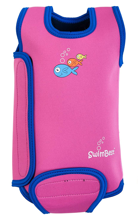 SwimBest Baby Wetsuit - Pink-6-12 mths BWTWS4-12
