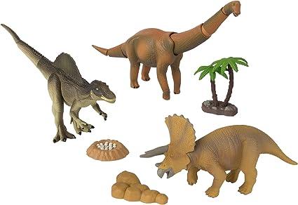 Ania Tomy Dino Stomp Brachiosaurus Spinosaurus Triceratops Nest of Eggs Tree Roc