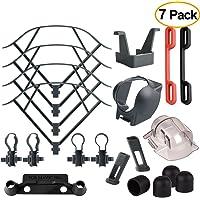 Kuuqa 7 Pack Accessory Kits for Mavic Pro, Propeller Prop Guard, Landing Gear Extender, Lens Hood, Remote Controller Joystick Protector, Propeller Guard Fixator, Gimbal Guard Protector, Motor Cap