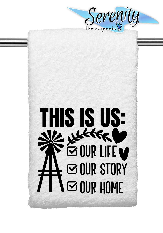 Decorative Microfiber Velour Cloth Fabric Hand Towel Dish Tea Table Soft Farmhouse Rustic Kitchen Bathroom Decor Black White Vintage Home Theme Accessories This Is Us