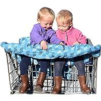 Double Shopping Cart Cover - Twins Shopping Cart Cover - Extra Large Shopping Cart Cover - 4 Leg Hole Shopping Cart…