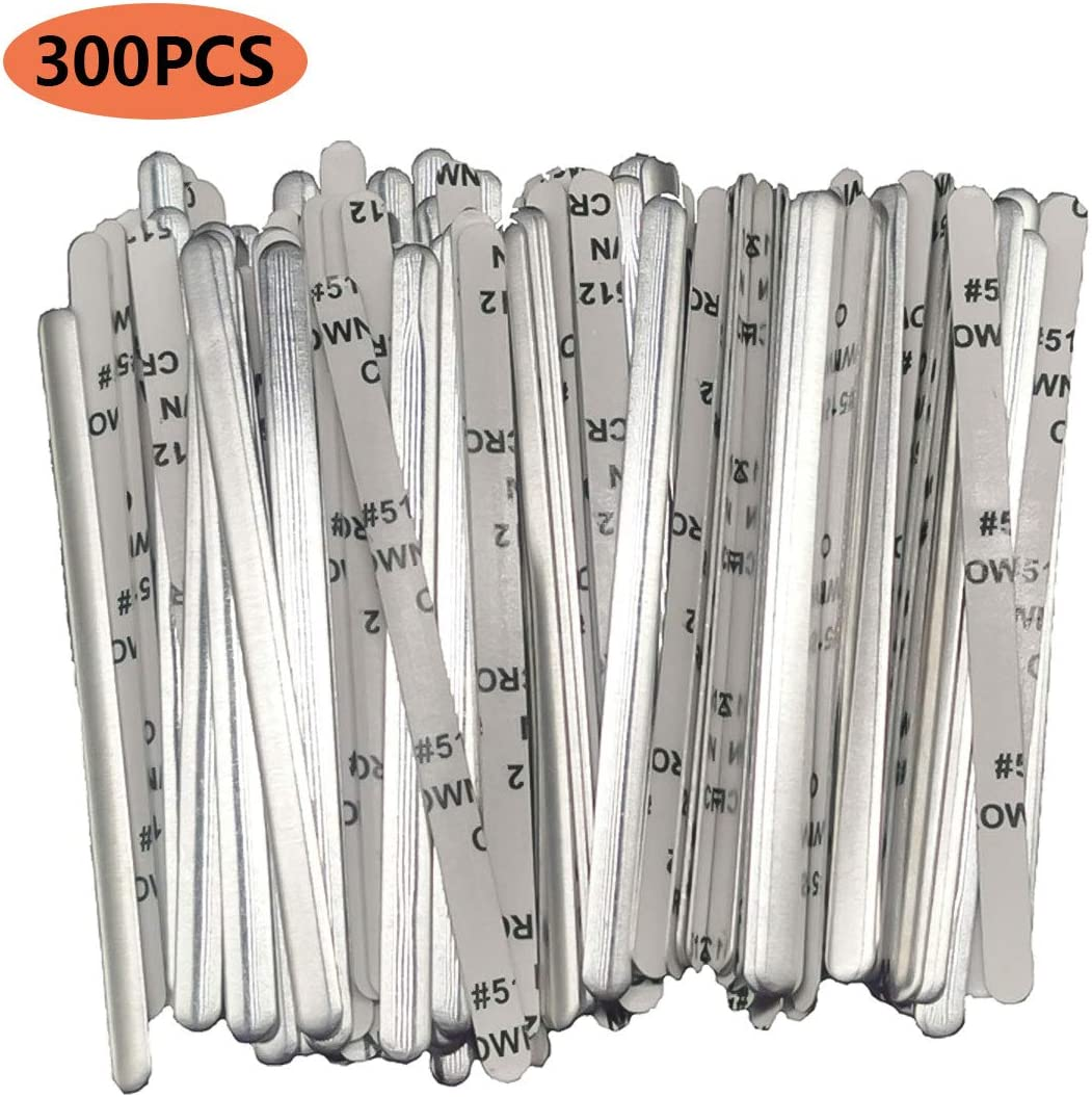 1000PCS Aluminum Strips Nose Wire,Nose Bridge for Mask,90MM Metal Flat Nose Clips Nose Bridge Bracket DIY Wire for Sewing Crafts