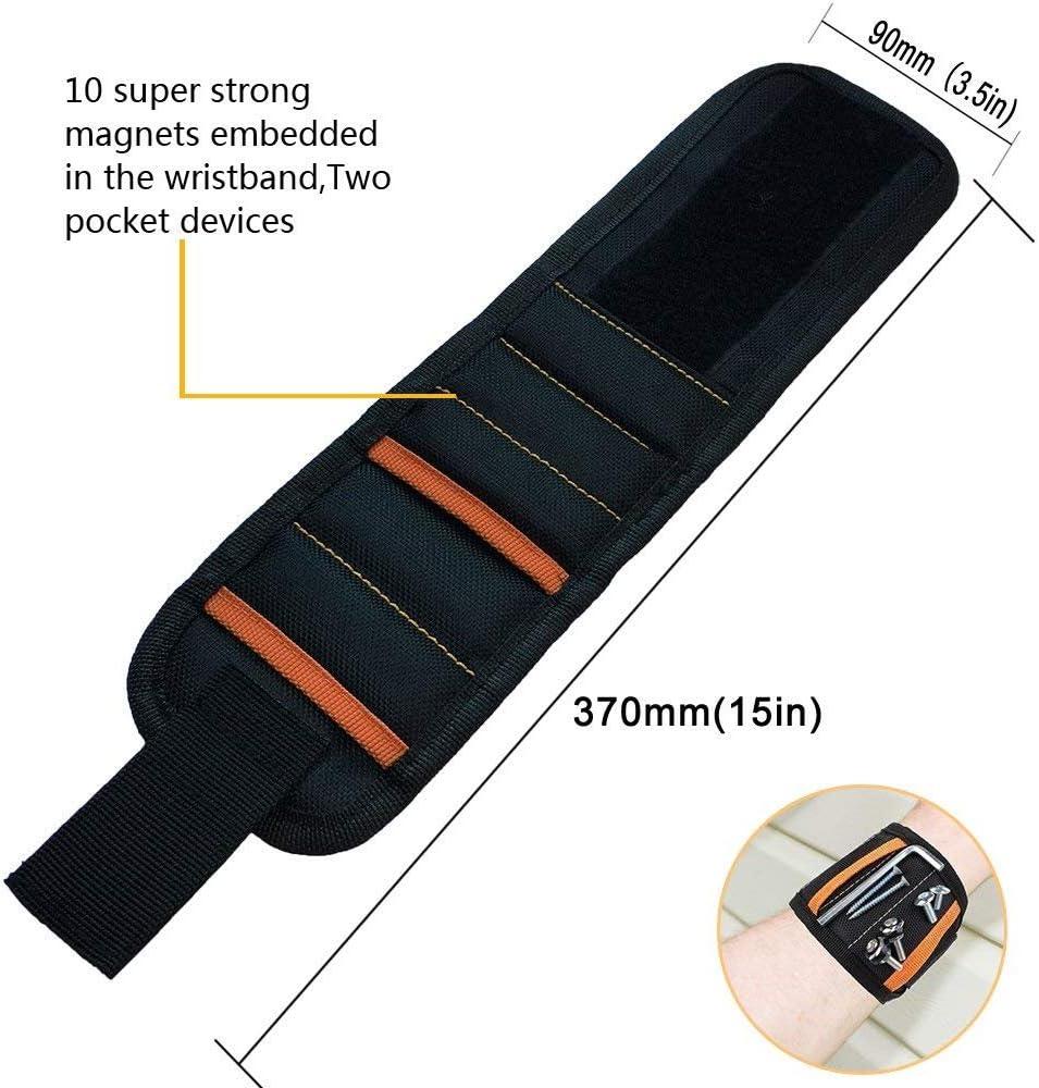 Forets Clous Clips Poche Bracelet Magn/étique /à 5 Rangs pour Vis de Fixation Bracelet /à Outils Magn/étiques Avec 10 Aimants Puissants Ronds Ciseaux