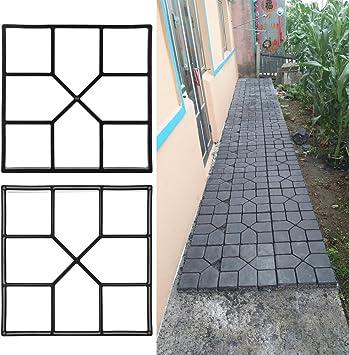 Pflasterform Betonform Schalungsform Garten Gießform für 8 Pflastersteine TOP