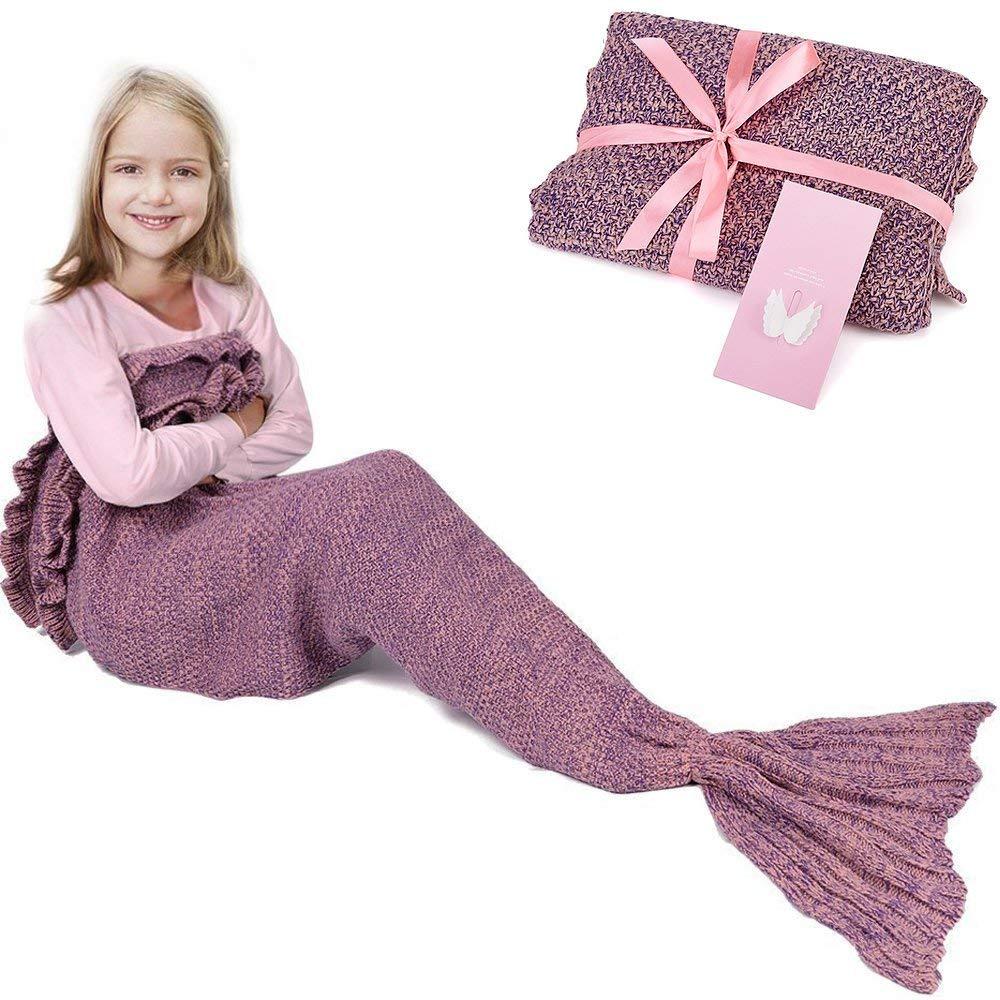Meerjungfrau-Schwanz-Decke für Geburtstags-Geschenke, RUVALINO Süße ...
