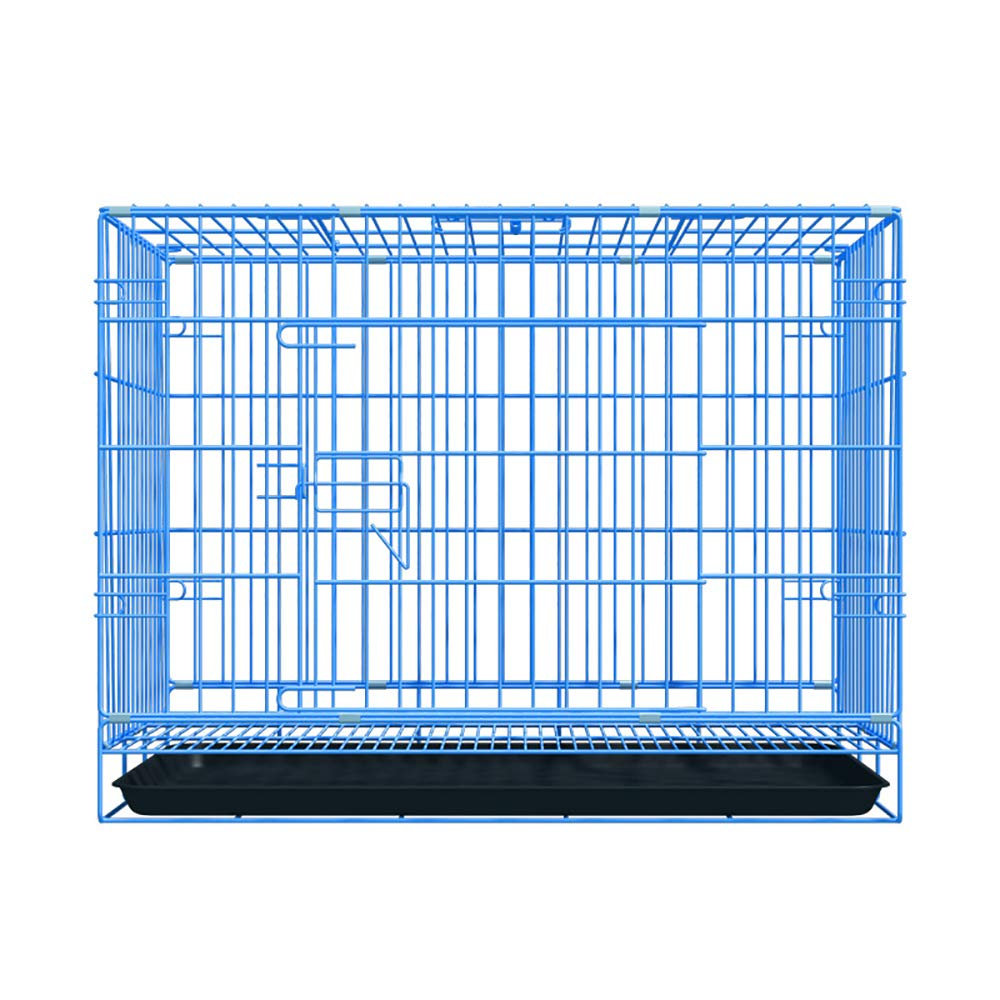 bluee X-Small bluee X-Small QNMM Folding Metal Dog Crate Puppy Transport Crate Pet Carrier Suitable for Small and Medium Pet Dogs to Rest,bluee,XS