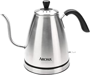 Aroma Housewares Professional AWK-210SB Electric Water Kettle, 1.0 liter, Sliver