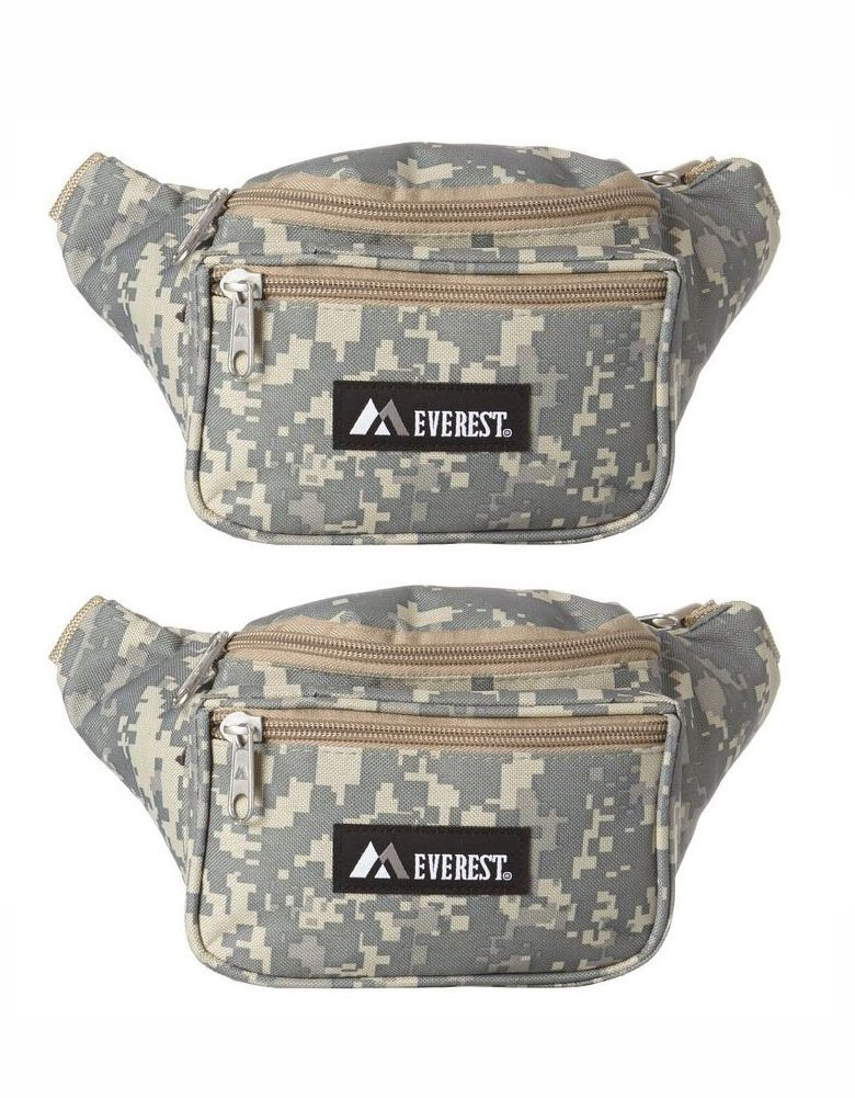 Everest Signature Waist Pack - Standard, Black, One Size EVFDS 044KD-BK