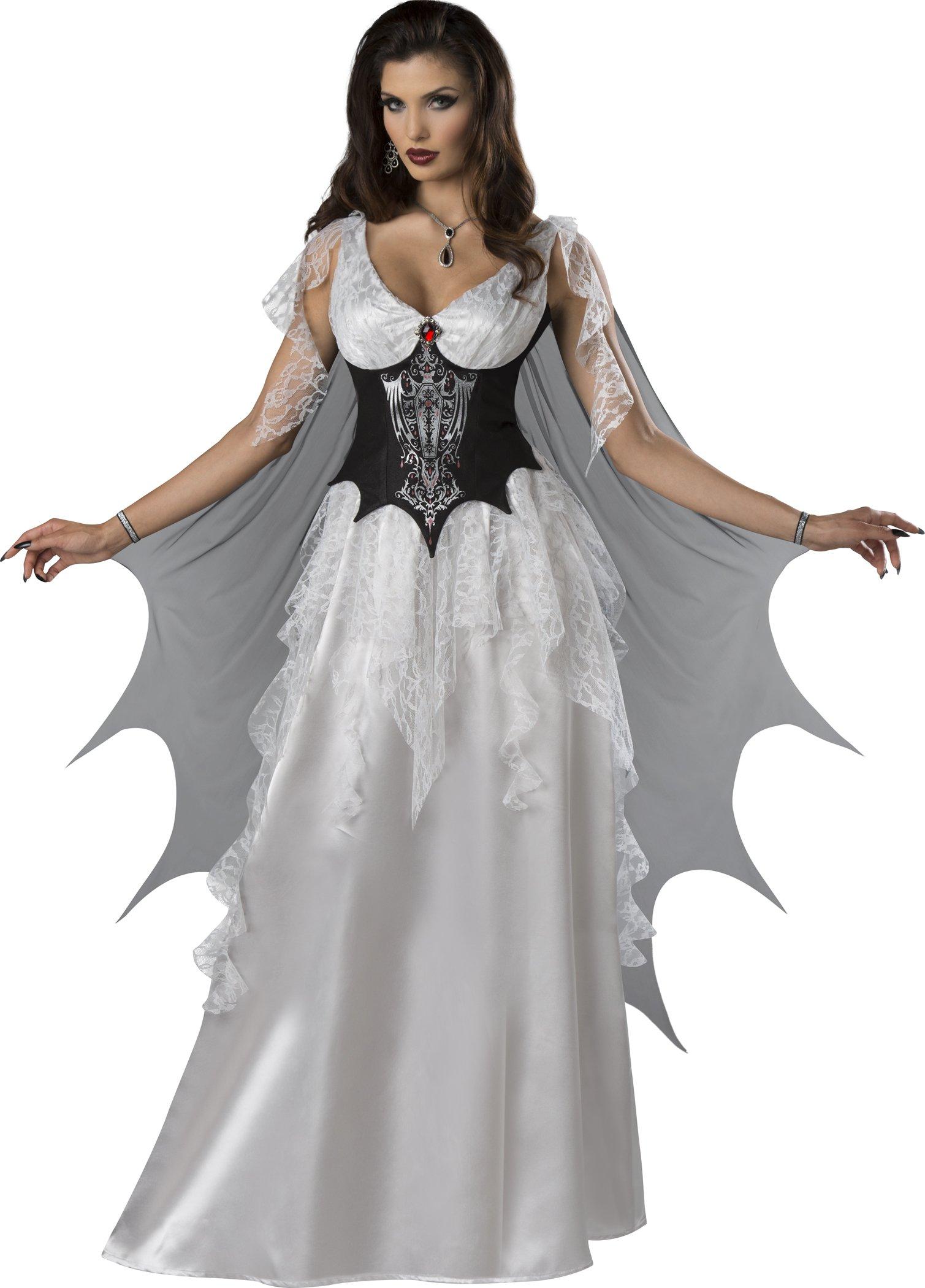 Fun World Women's Vampire Countess, Black/White, M