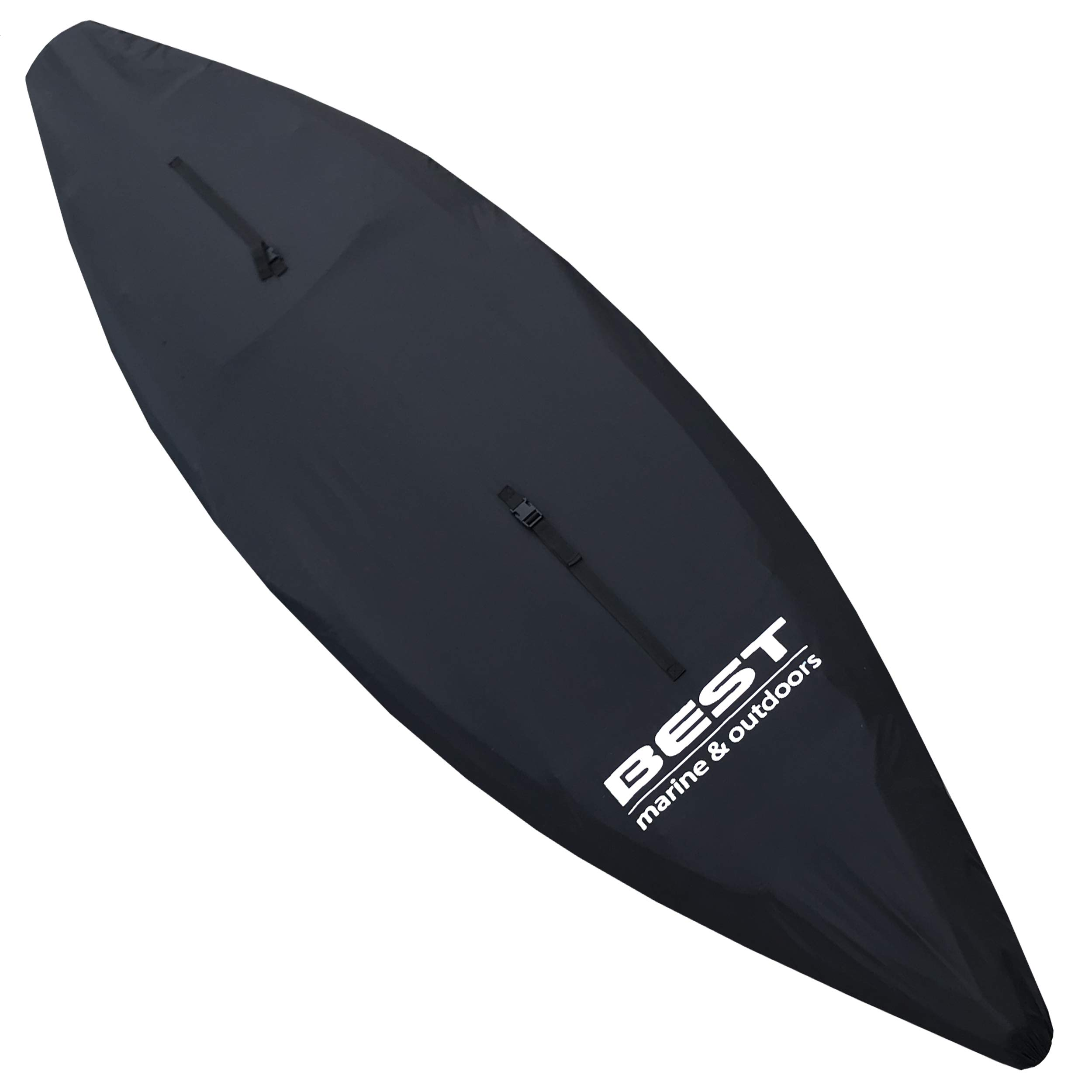 Best Marine Kayak Cover (L) Accessories for Indoor/Outdoor Storage. Durable Waterproof Covers That Protect Your Kayaks and Cockpit from UV Rays, Debris and Water. Also Works with SUP Paddle Boards by BEST Marine and Outdoors
