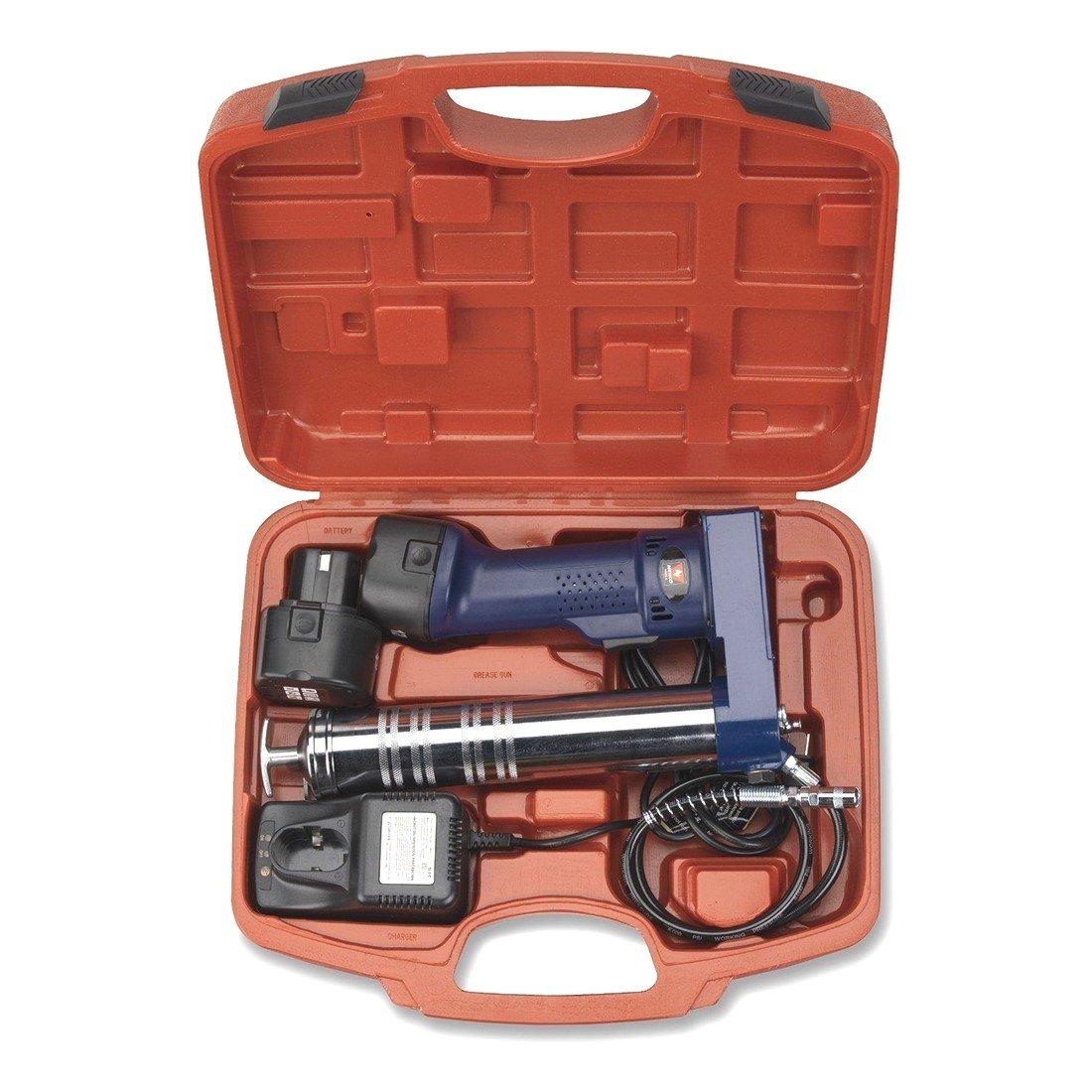 Cordless Rechargeable Grease Gun | 2 x 12V Battery Automotive Mechanics Tool