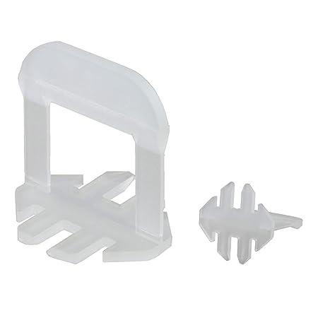 Lantelme Fliesenverlegesystem Set 4 mm Fuge Zuglaschen Keile Zange Fliesenh/öhe von 3-15mm 7091