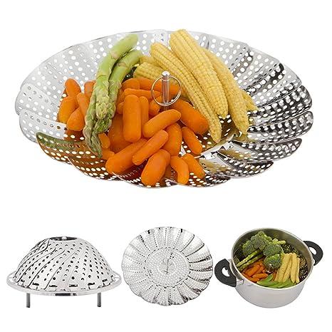 Amazon.com: superb2 C vegetales Steamer cesta plegable de ...