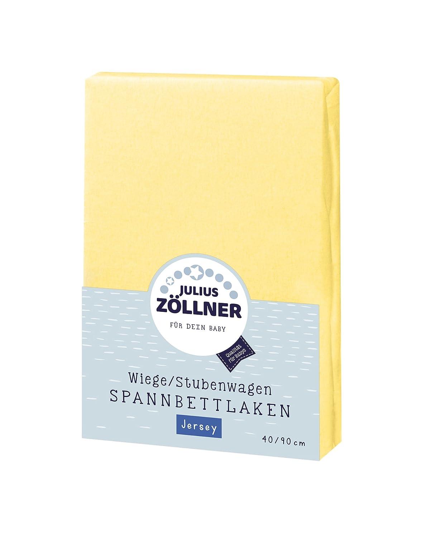 Julius Z/öllner Spannbetttuch Spannbettlaken Tencel 90x40 cm gelb 3er Pack