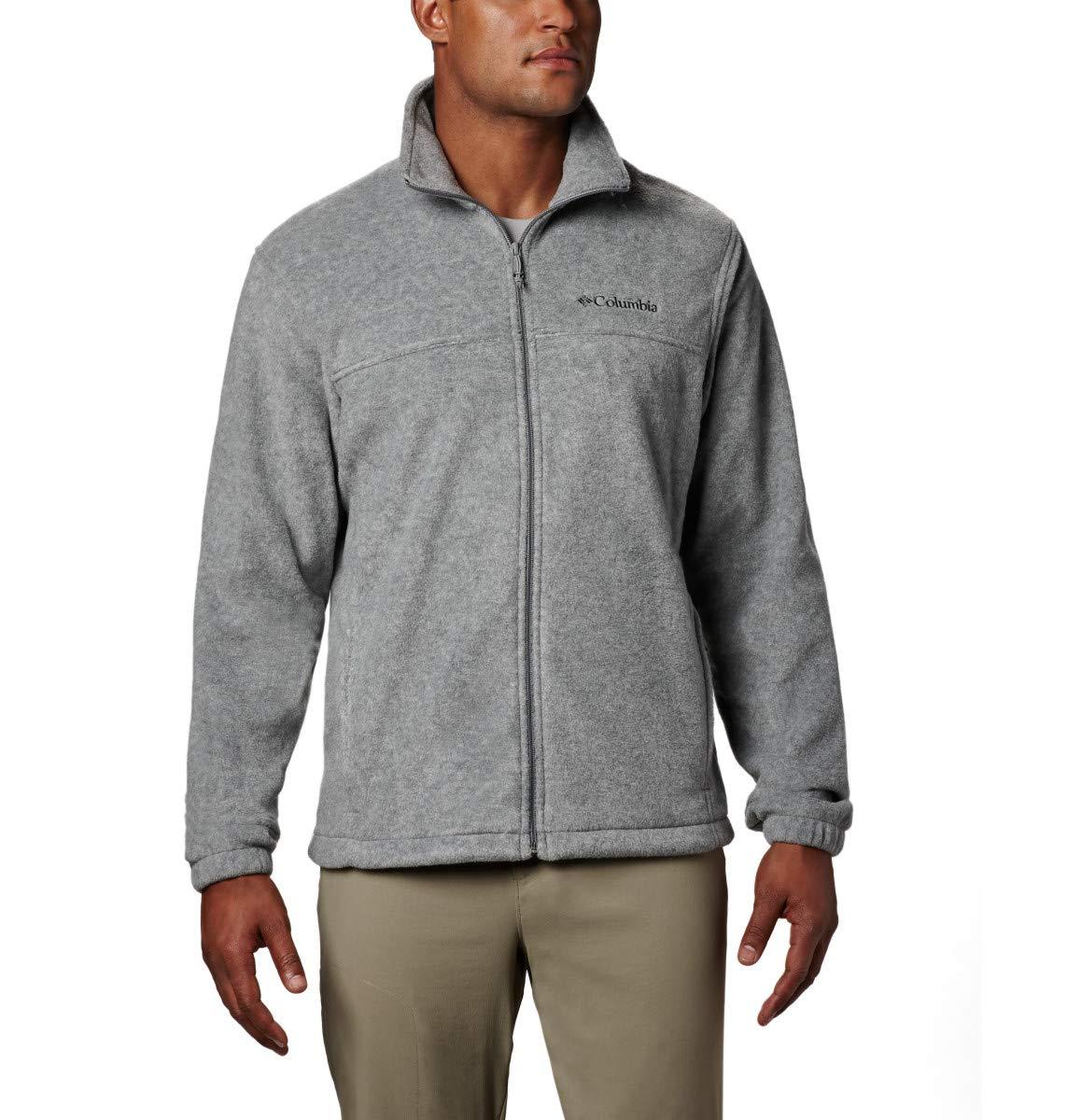 Columbia Men's Steens Mountain Full Zip 2.0, Soft Fleece with Classic Fit, Light Grey Heather, Medium by Columbia