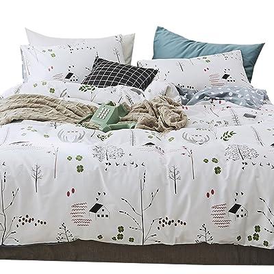 4510334ef432 OTOB 3 Piece Kids Twin Bedding Sets for Girls Boys Cartoon Deer Print Elk Duvet  Cover