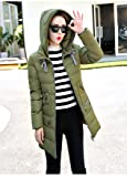 Rela Bota Women's Winter Faux Fur Hooded Coats Down Parkas Anroaks Long Jacket Overcoat XXXXXXX-Large Army Green