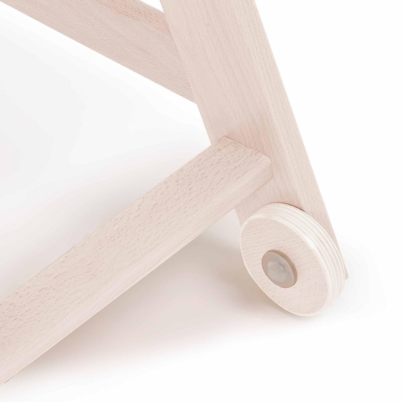 altura regulable bandeja coj/ín Trona de madera evolutiva beb/és Hauck Beta Plus Newborn Set incluye hamaca para reci/én nacidos color White-Washed Dots