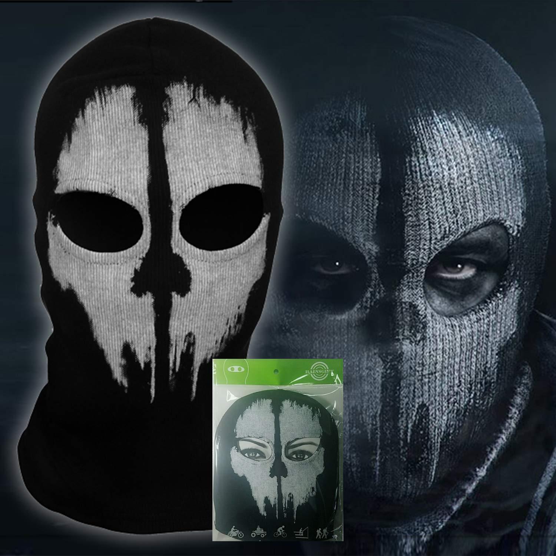 teemerryca Skull Balaclava Face Mask for Halloween New Year Party Outdoor Sport Motorcycle Neck Warmer Hood