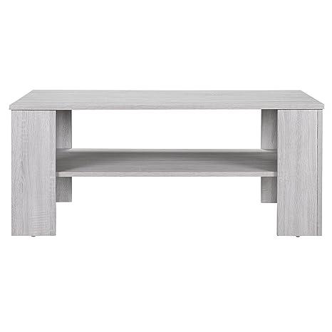 Tavolino Salotto Rovere Grigio.En Casa Tavolino Da Salotto Rovere Bianco 100x60cm Del Soggiorno Legno