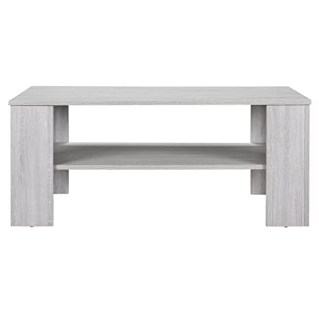 Tavolino Da Salotto Rovere Grigio.En Casa Tavolino Da Salotto Rovere Bianco 100x60cm Del Soggiorno Legno
