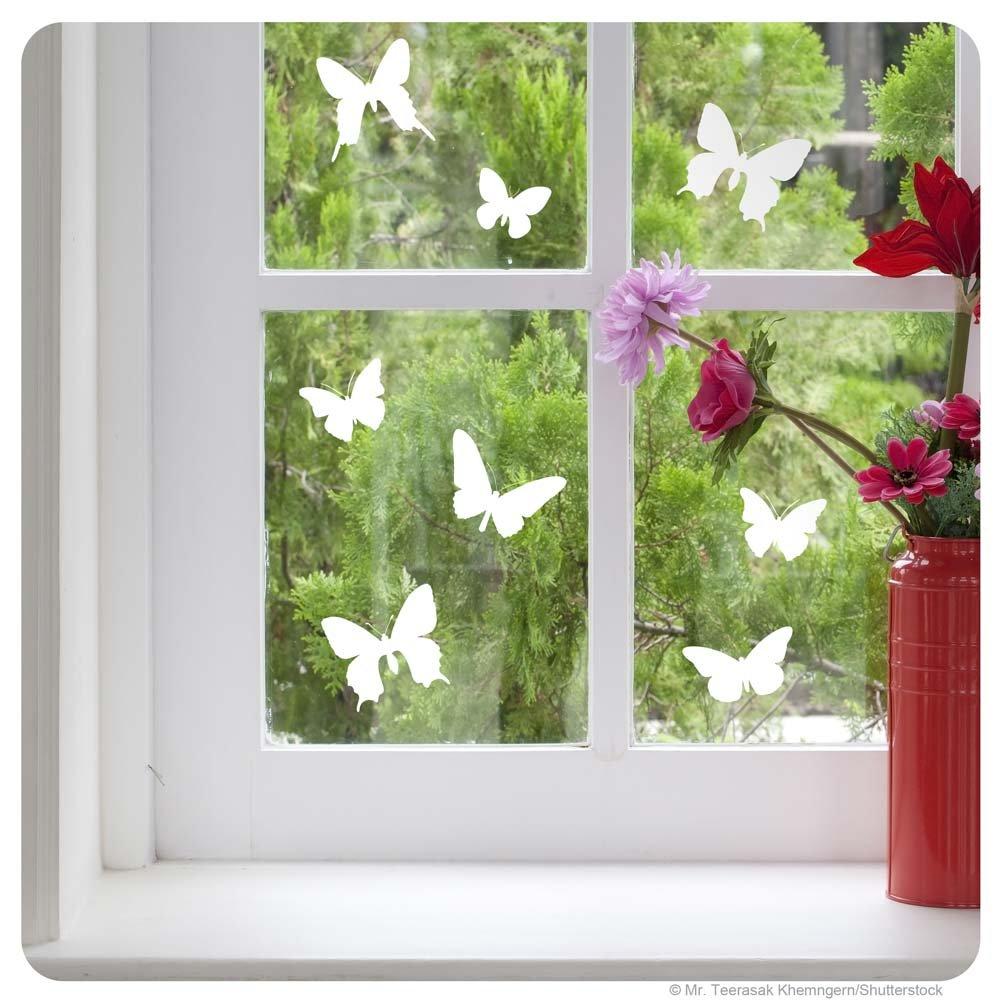 Amazon Fensterbild Schmetterlinge Fenstertattoo Fenstersticker