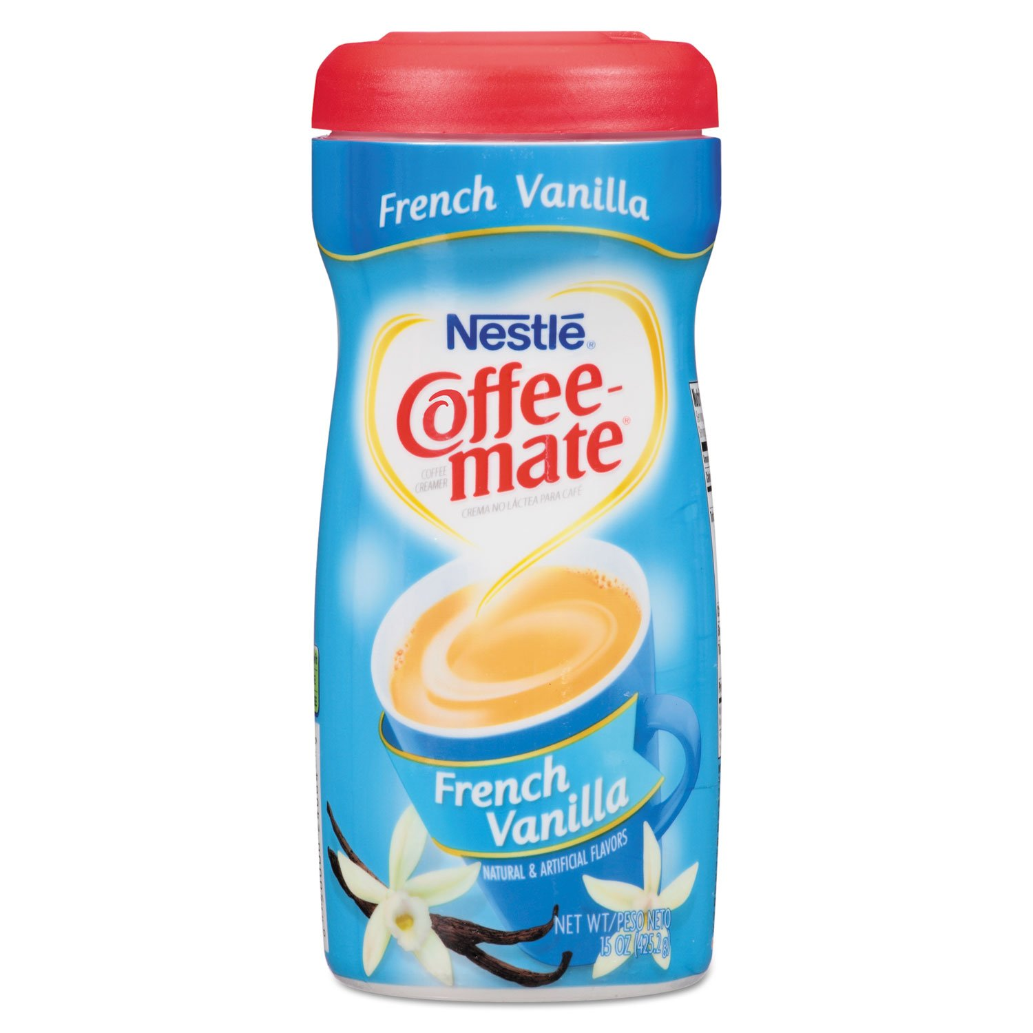 Coffee-mate 35775CT Non-Dairy Powdered Creamer French Vanilla 15 oz Canister 12/Carton